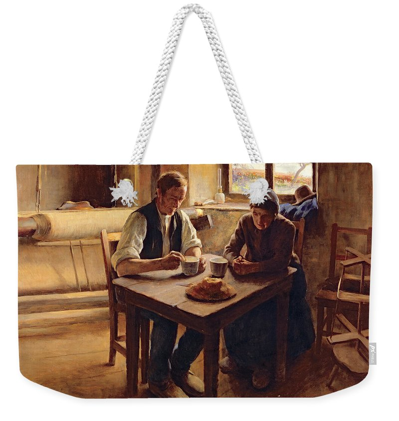 Poor Weekender Tote Bag featuring the painting Poor People by Andre Collin