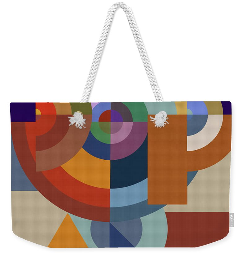 Tencc Weekender Tote Bag featuring the painting Pop Art Bauhaus - Abstract  Graphic Composition by Big 7008e6fdfe11f