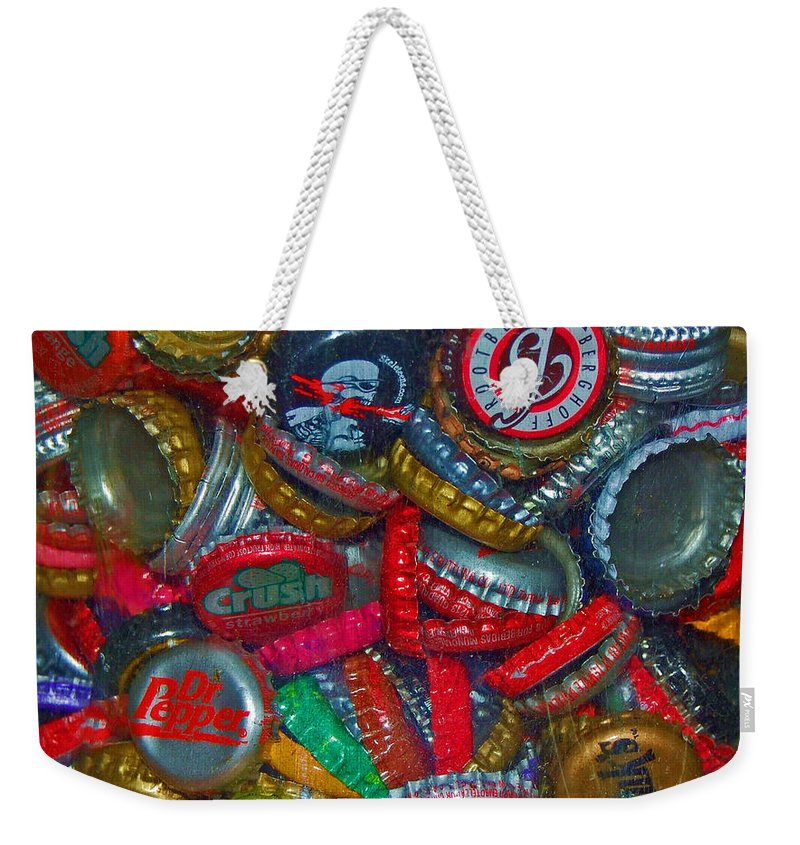 Bottles Weekender Tote Bag featuring the photograph Pop Art by Debbi Granruth