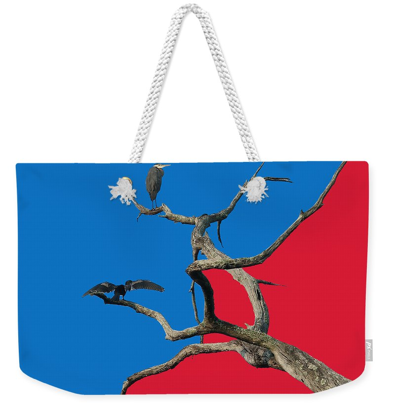 Birds Weekender Tote Bag featuring the digital art Pop Art by Robert Meanor
