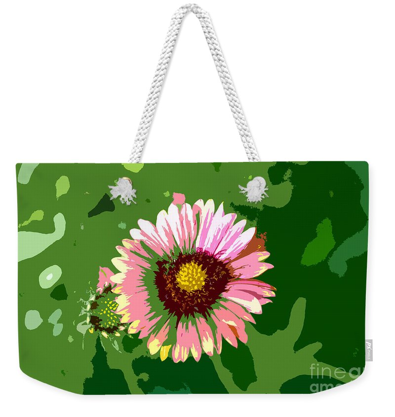 Flower Weekender Tote Bag featuring the photograph Pop Flower Work Number 23 by David Lee Thompson