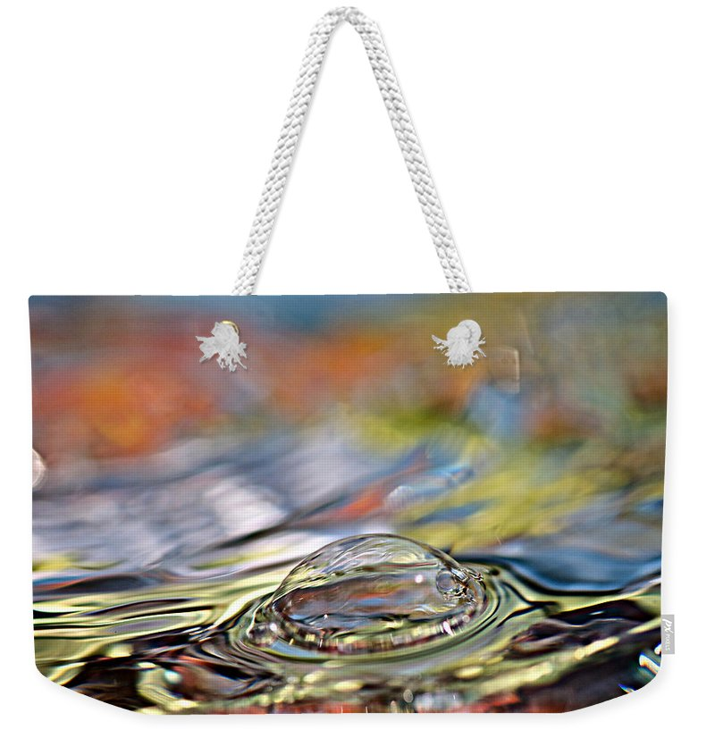Water Weekender Tote Bag featuring the photograph Pop Me by Lisa Knechtel