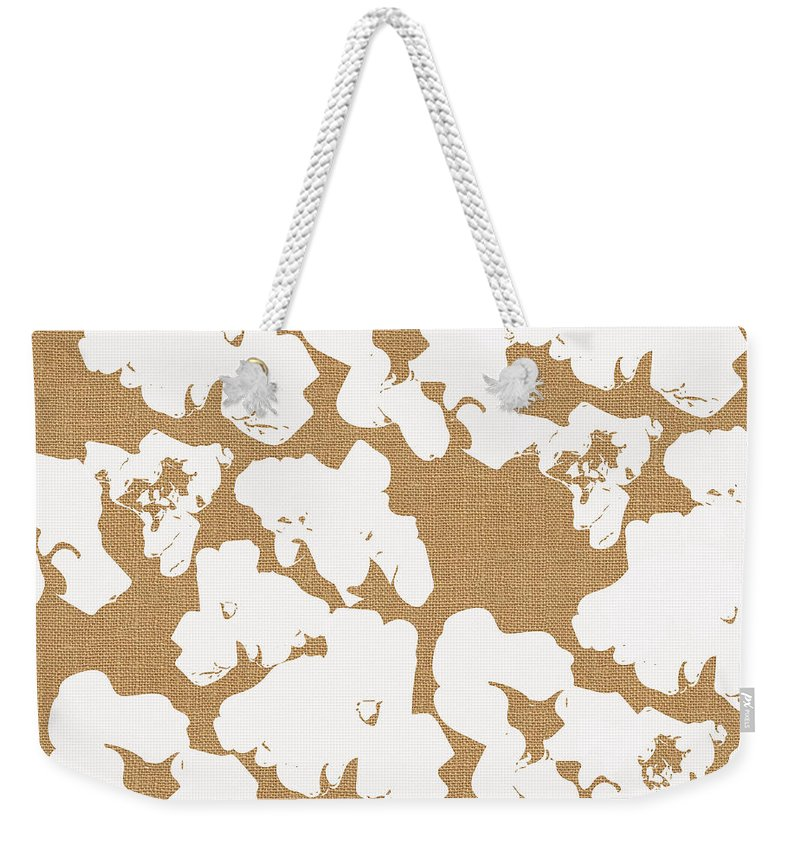 Popcorn Weekender Tote Bag featuring the mixed media Popcorn- Art By Linda Woods by Linda Woods