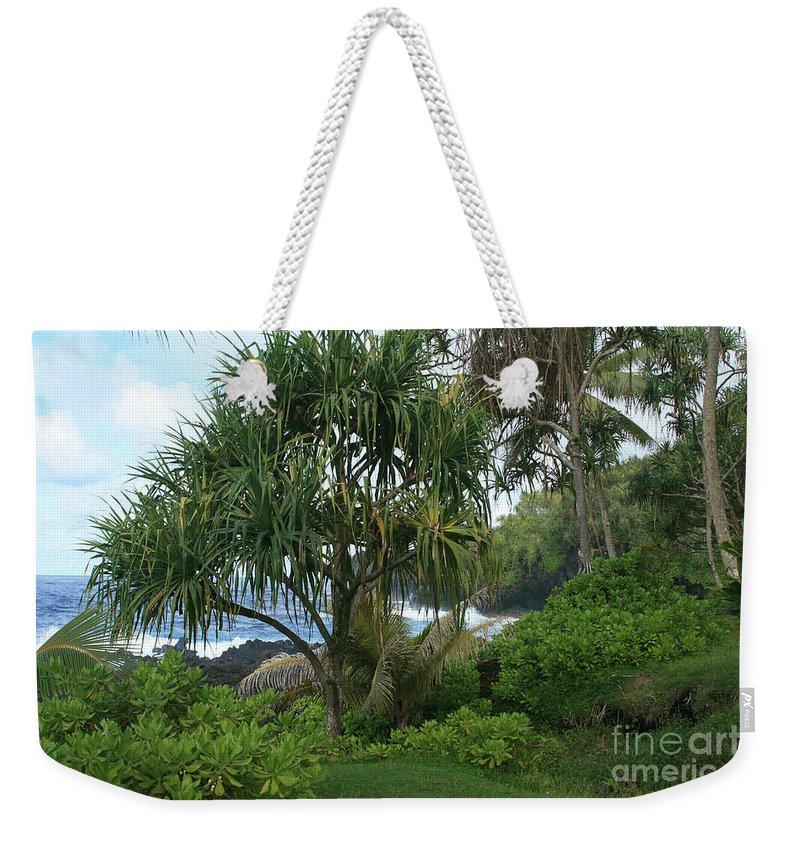 Aloha Weekender Tote Bag featuring the photograph Poponi Maui Hawaii by Sharon Mau