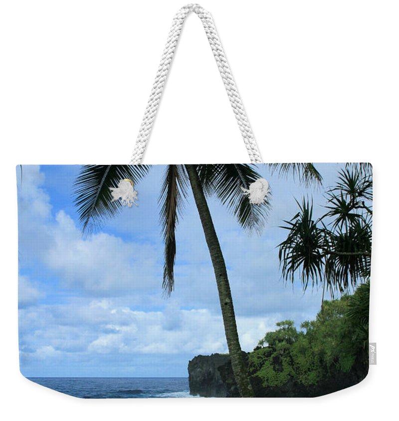 Aloha Weekender Tote Bag featuring the photograph Poponi Ulaino Mokupupu Maui North Shore Hawaii by Sharon Mau