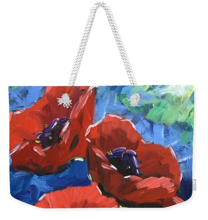 Art Weekender Tote Bag featuring the painting Poppies Splender by Richard T Pranke