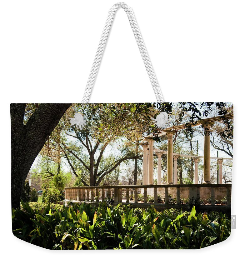 Kathleen K Parker Weekender Tote Bag featuring the photograph Popp's Fountain by Kathleen K Parker