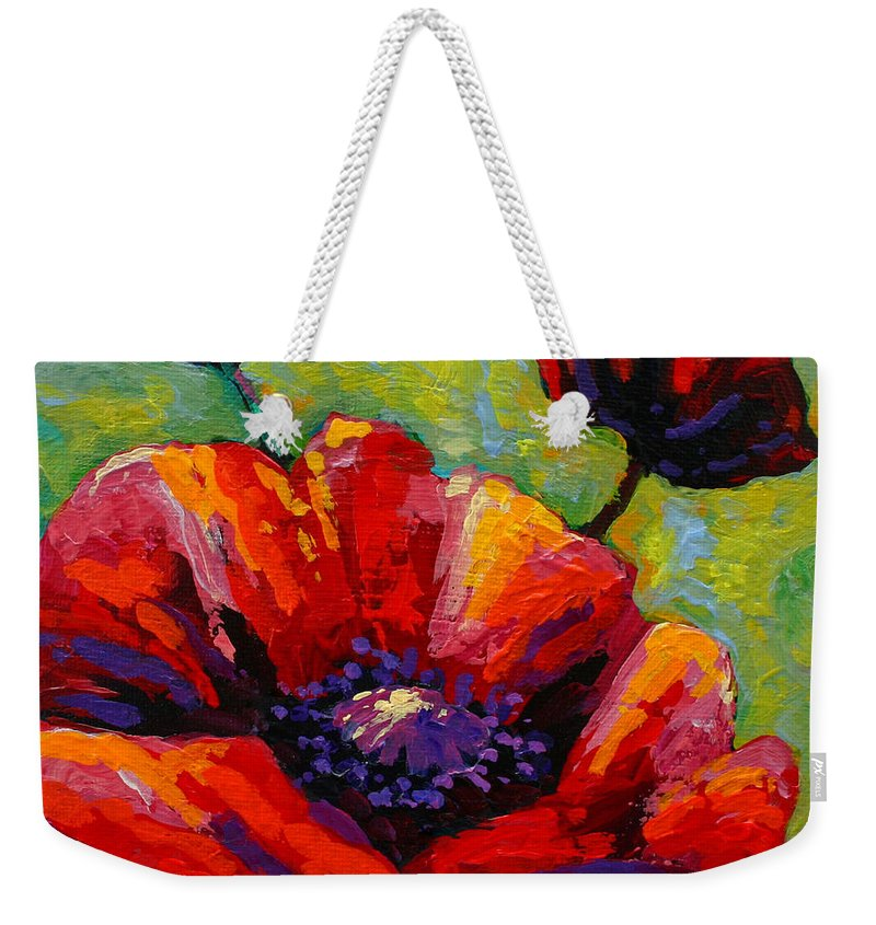 Poppies Weekender Tote Bag featuring the painting Poppy I by Marion Rose