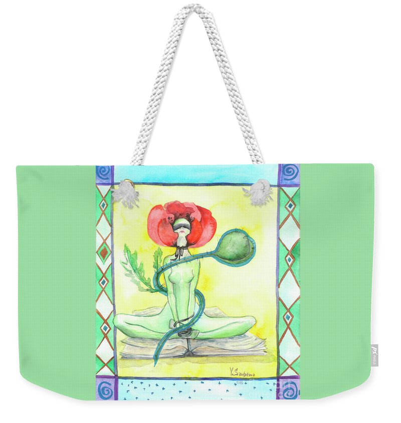 Art Weekender Tote Bag featuring the painting Poppy by Yana Sadykova