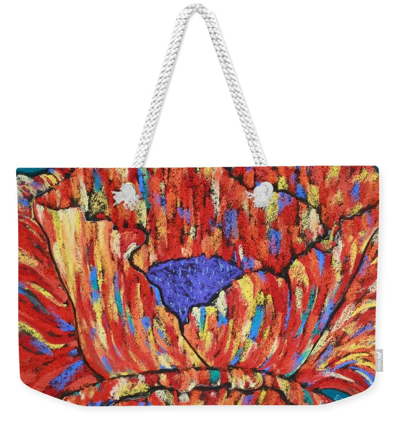 Poppy Weekender Tote Bag featuring the painting Poppy2 by Melinda Etzold