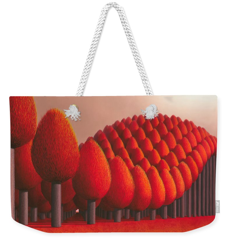 Tree Weekender Tote Bag featuring the painting Populus Flucta by Patricia Van Lubeck