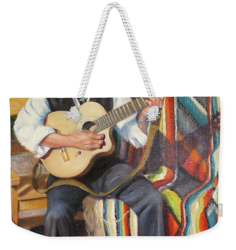 Realism Weekender Tote Bag featuring the painting Por Tu Amor by Donelli DiMaria