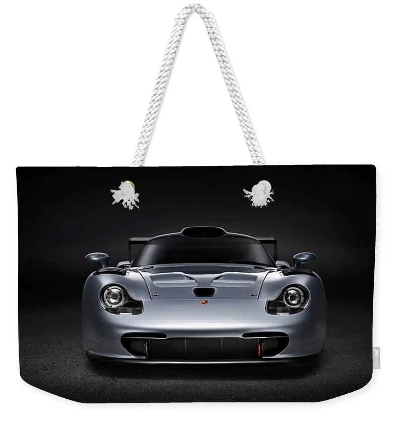 Porsche 911 Evolution Weekender Tote Bag featuring the photograph Porsche 911 Evolution by Movie Poster Prints