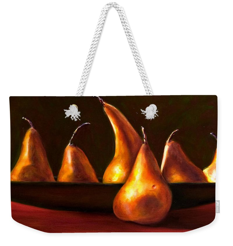 Still Life Weekender Tote Bag featuring the painting Port Au Pear by Shannon Grissom