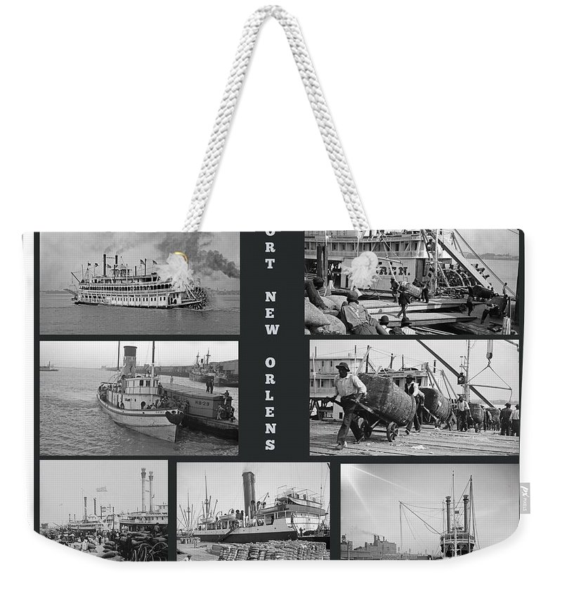 Port New Orleans Weekender Tote Bag featuring the painting Port New Orleans by John Malone