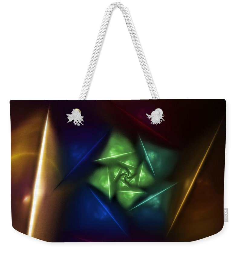 Digital Painting Weekender Tote Bag featuring the digital art Portal 2 by David Lane
