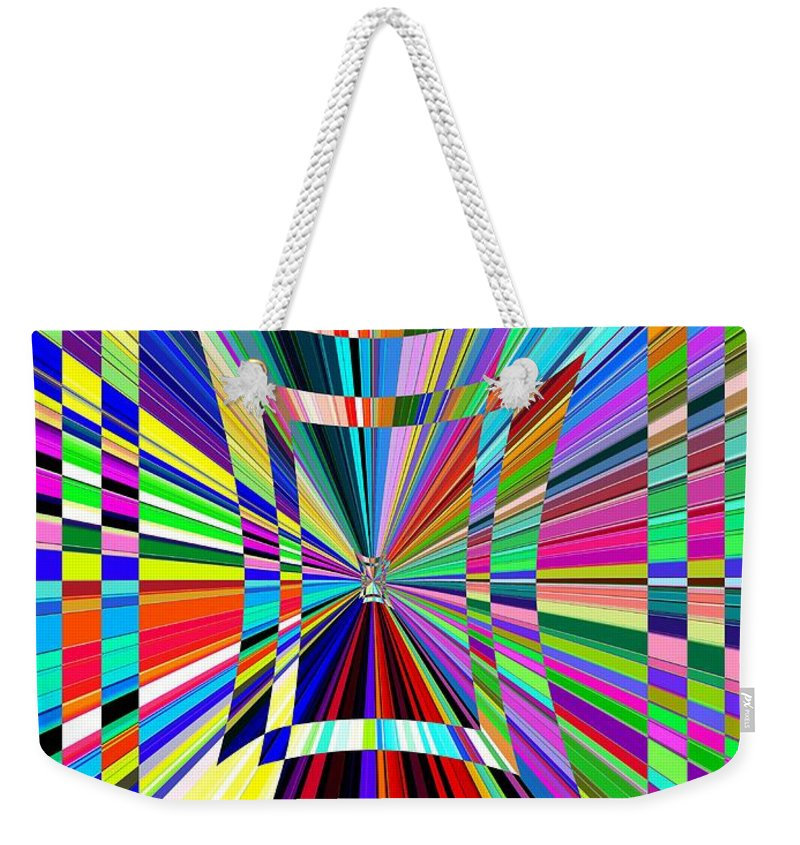 Abstract Weekender Tote Bag featuring the digital art Portal 3 by Tim Allen