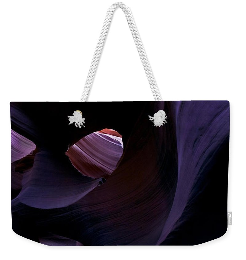 Desert Weekender Tote Bag featuring the photograph Portal by Mike Dawson