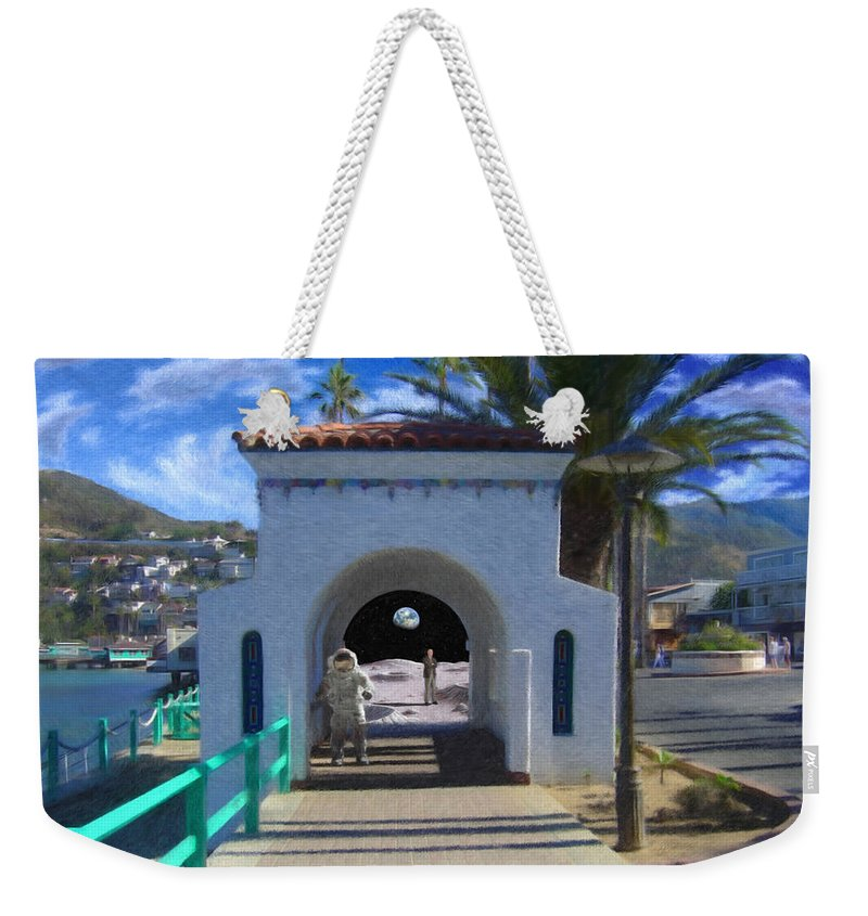 Portal Weekender Tote Bag featuring the digital art Portal by Snake Jagger