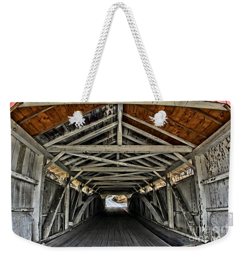Allentown Weekender Tote Bag featuring the photograph Portal To Serenity by DJ Florek