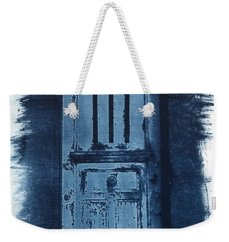 Cyanotype Weekender Tote Bag featuring the photograph Portals by Jane Linders