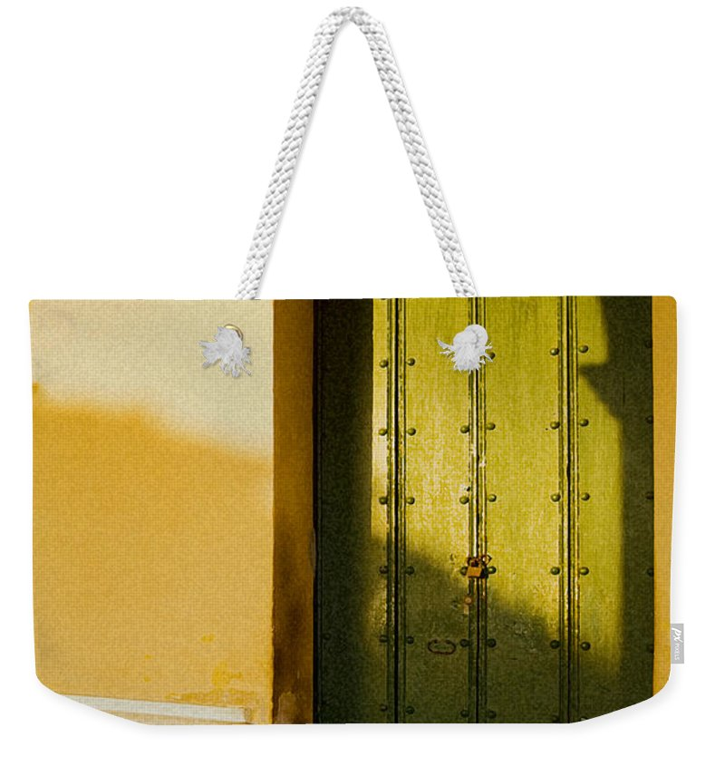Caribbean Weekender Tote Bag featuring the photograph Porte Verte by Pierre Logwin