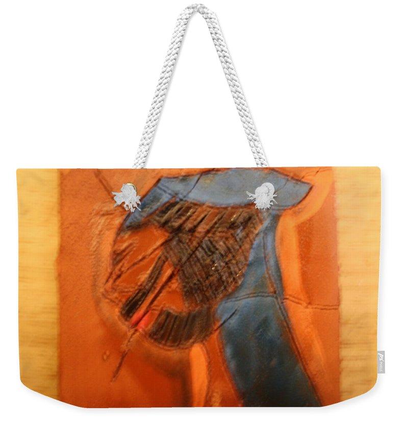 Jesus Weekender Tote Bag featuring the ceramic art Porter - Tile by Gloria Ssali