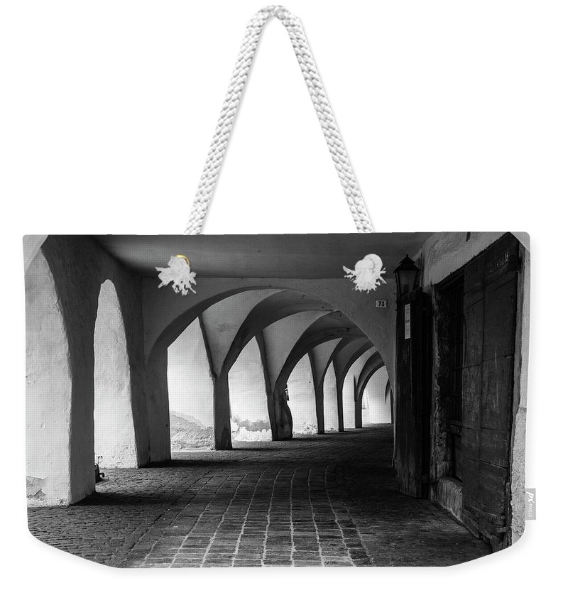Architecture Weekender Tote Bag featuring the photograph Portico - Sudtirol / Italy by Massimo Mazza