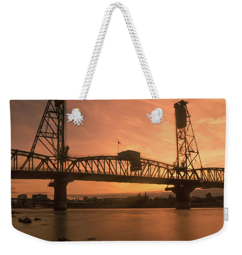 Weekender Tote Bag featuring the photograph Portland Bridge by Marcel Van der Stroom
