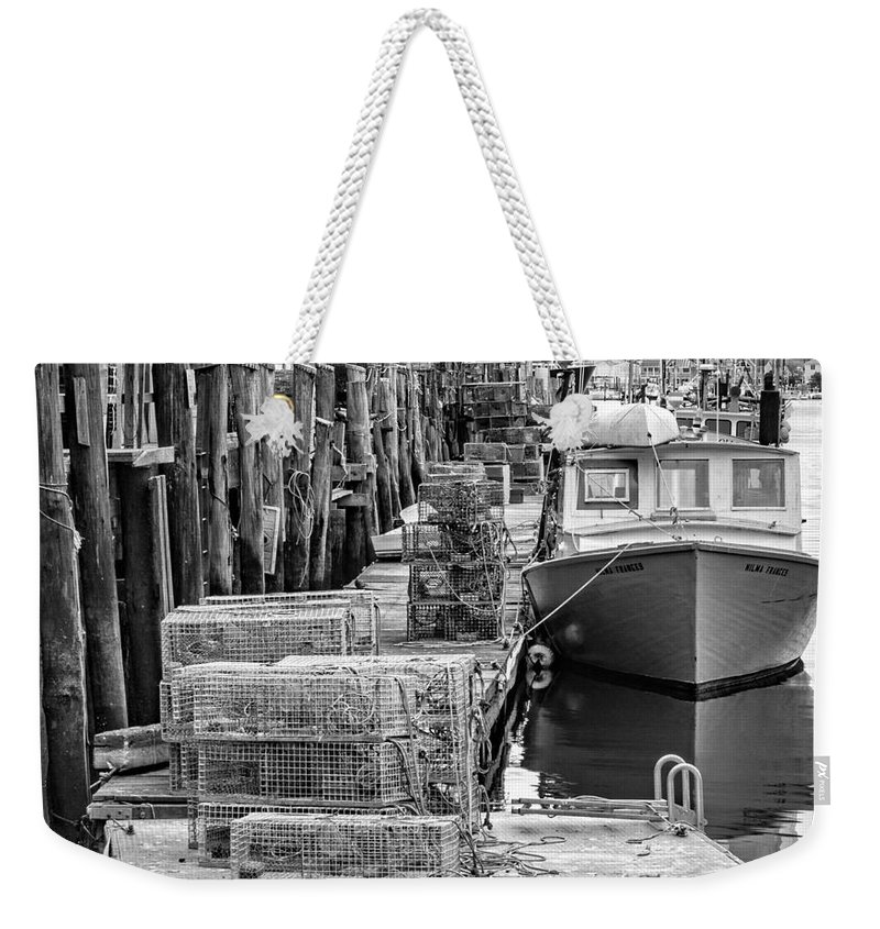 Atlantic Weekender Tote Bag featuring the photograph Portland Dock by Jerry Fornarotto
