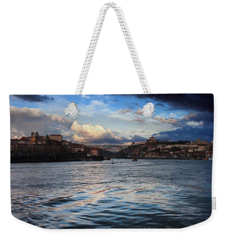 Porto Weekender Tote Bag featuring the photograph Porto And Vila Nova De Gaia River View by Artur Bogacki