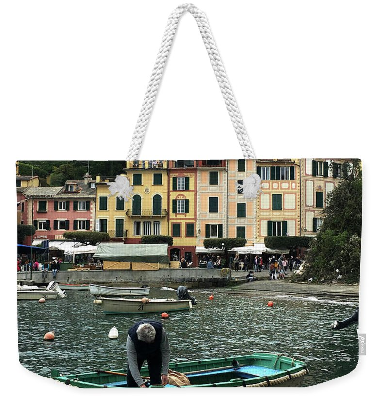Portofino Weekender Tote Bag featuring the photograph Portofino by Gala Voroshylina