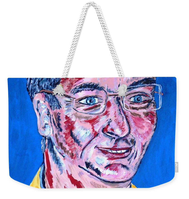 Portrait Weekender Tote Bag featuring the painting Portrait Dr. R. Meiritz by Valerie Ornstein