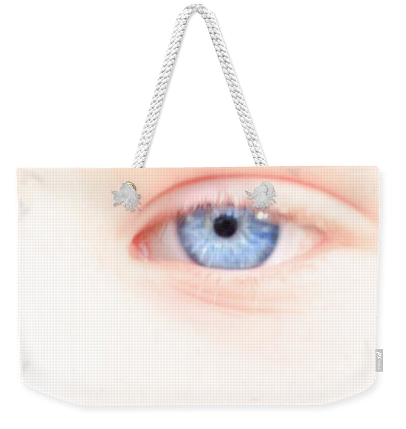 Eyes Weekender Tote Bag featuring the photograph Portrait Of A Smile by Bob Orsillo