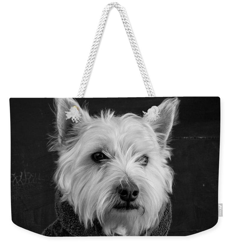 Dog Weekender Tote Bags