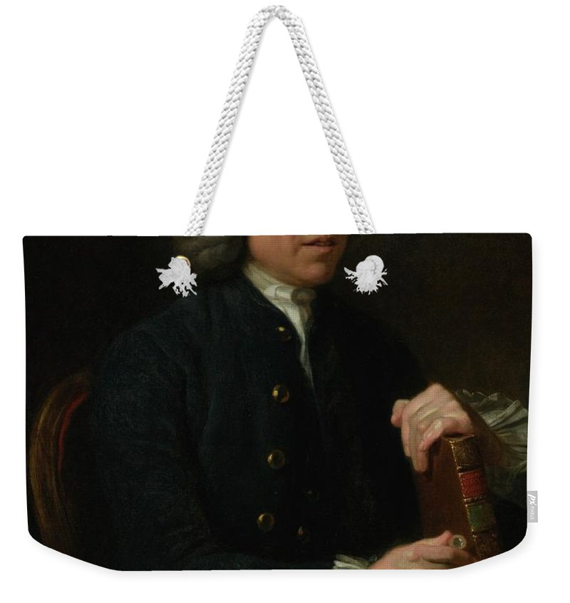 Johan Zoffany R.a.  1733 - 1810  Portrait Of Benjamin Stillingfleet (1702-1771)) Weekender Tote Bag featuring the painting Portrait Of Benjamin Stillingfleet by Johan Zoffany