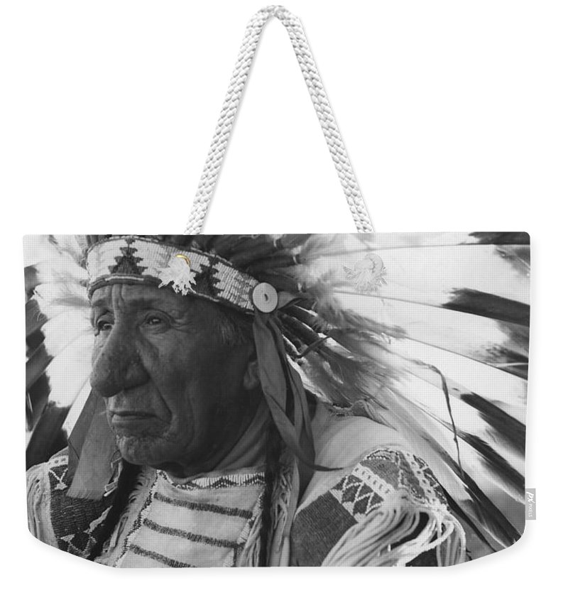 Oglala Lakota Weekender Tote Bag featuring the photograph Portrait Of Chief Red Cloud by Stocktrek Images