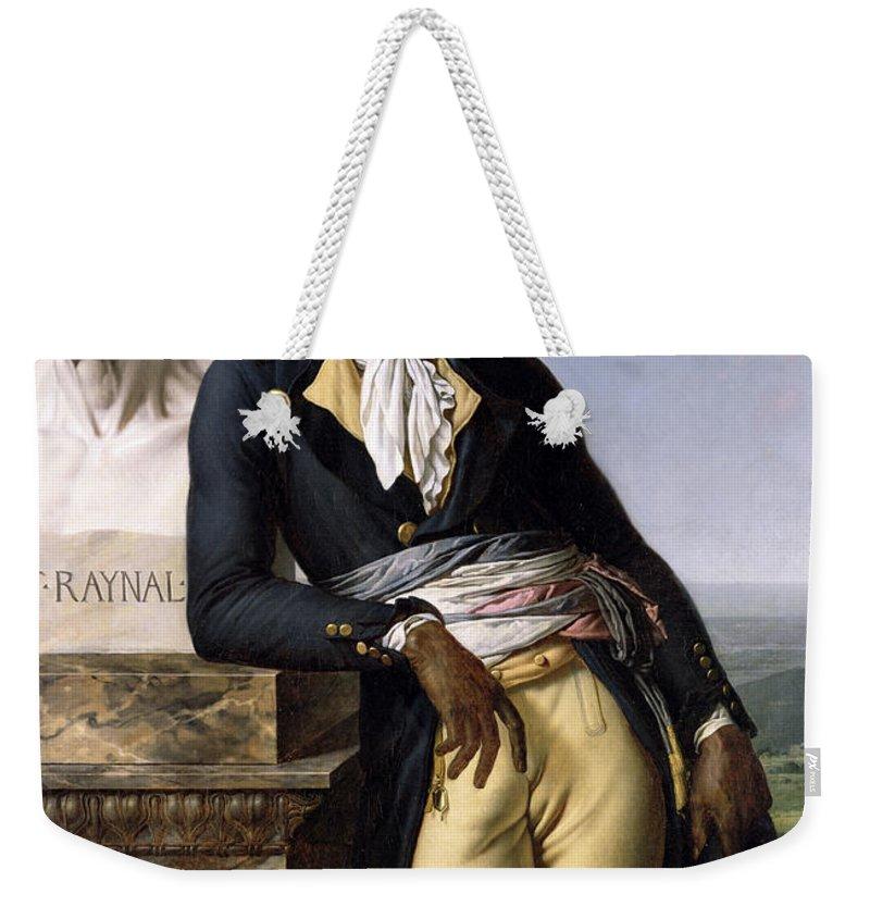 Portrait Weekender Tote Bag featuring the painting Portrait Of Jean-baptiste Belley by Anne Louis Girodet de Roucy-Trioson
