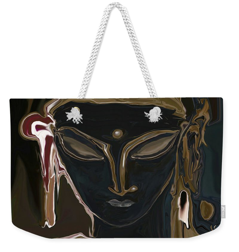 Art Weekender Tote Bag featuring the digital art Portrait Of Vajrasattva by Rabi Khan