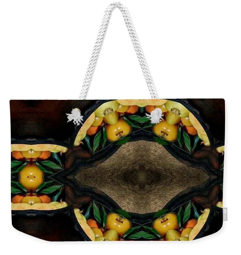 Portrait Setting Weekender Tote Bag featuring the digital art Portrait Setting Of Fruit Reflection Art by Sheila Mcdonald