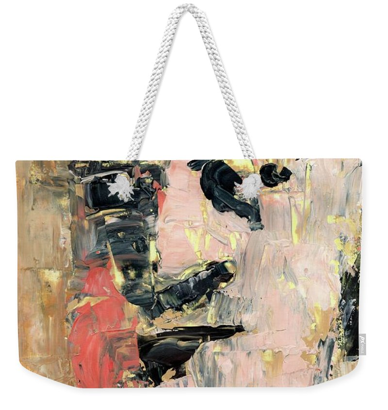 Portrait Weekender Tote Bag featuring the painting Portrait Studium by Paulina Archambault