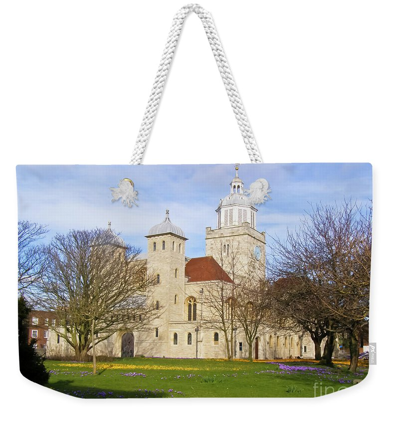 Portsmouth Cathedral Weekender Tote Bag featuring the photograph Portsmouth Cathedral In Springtime by Terri Waters