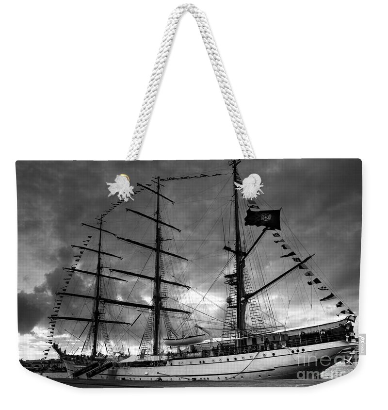 Brig Weekender Tote Bag featuring the photograph Portuguese Tall Ship by Gaspar Avila