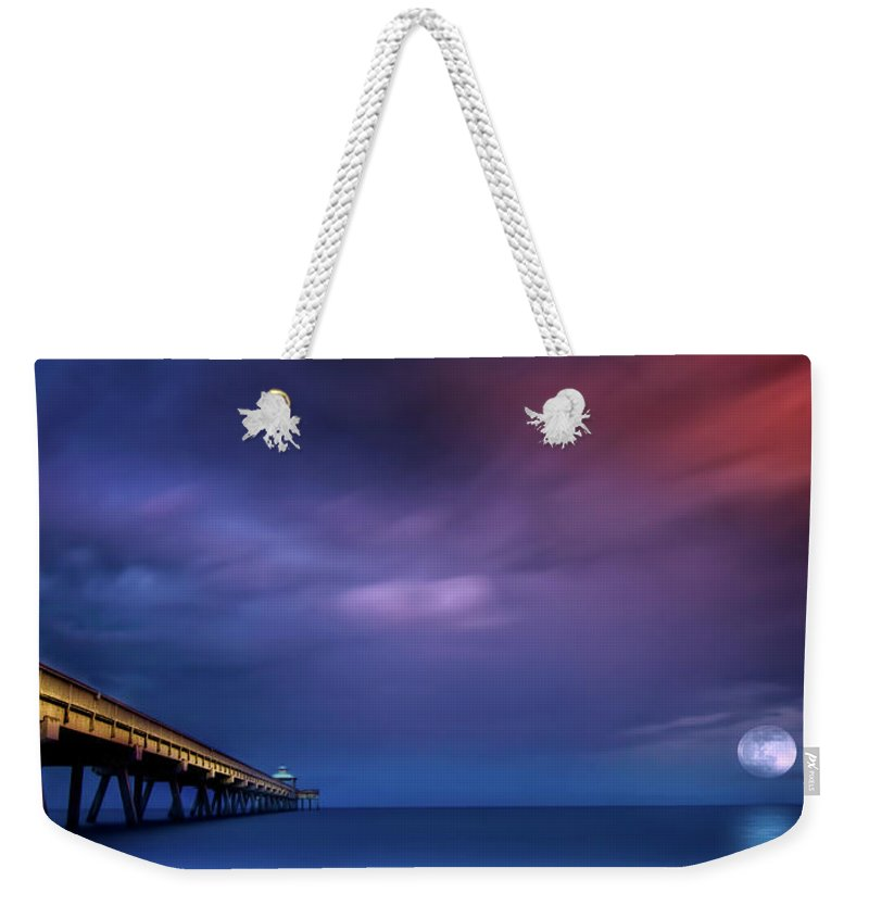 Super Moon Weekender Tote Bag featuring the photograph Poseidon's Realm by Mark Andrew Thomas
