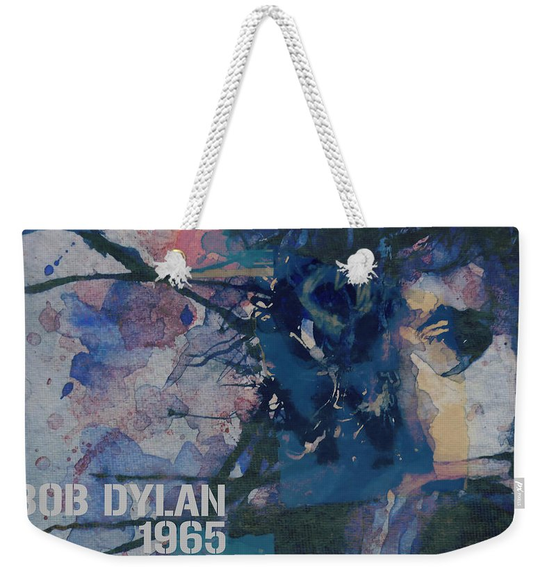Bob Dylan Weekender Tote Bag featuring the painting Positively 4th Street by Paul Lovering