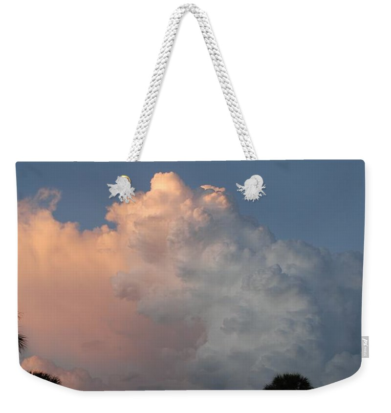 Clouds Weekender Tote Bag featuring the photograph Post Card Clouds by Rob Hans