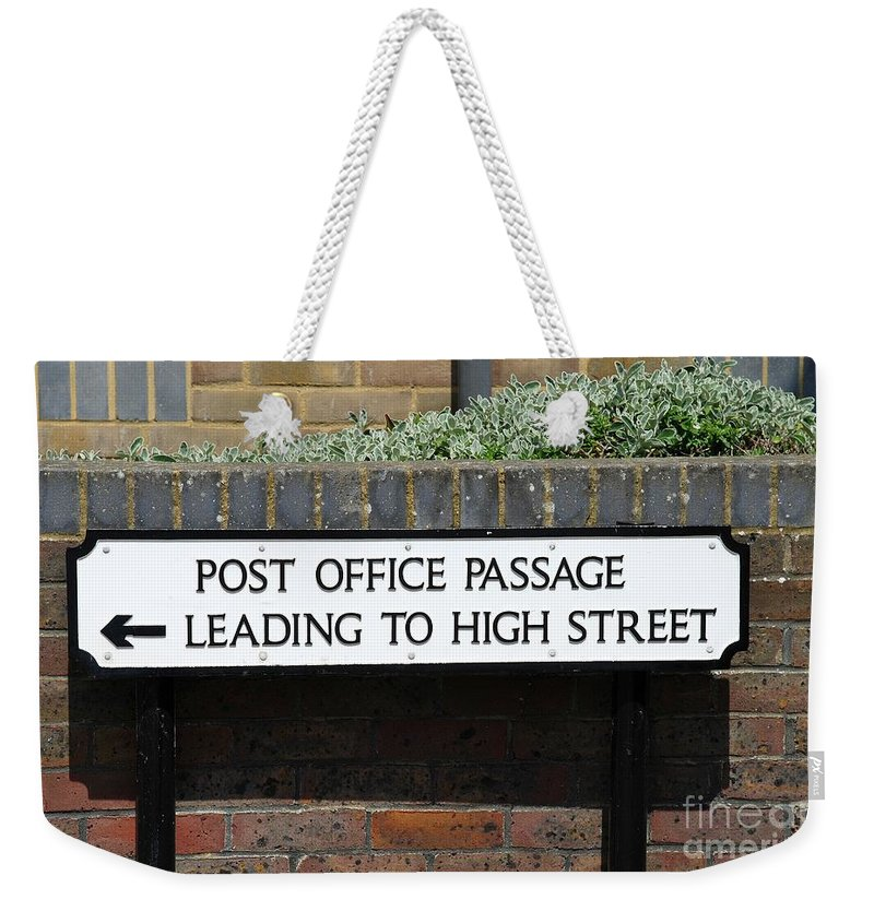 Hastings Weekender Tote Bag featuring the photograph Post Office Passage In Hastings by David Fowler