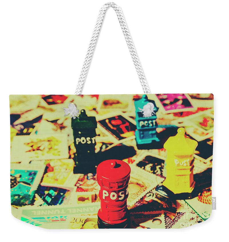 Pop Art Weekender Tote Bag featuring the photograph Postage Pop Art by Jorgo Photography - Wall Art Gallery