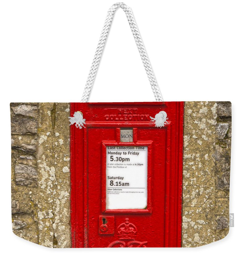 Letterbox Weekender Tote Bag featuring the photograph Postbox by Nick Field