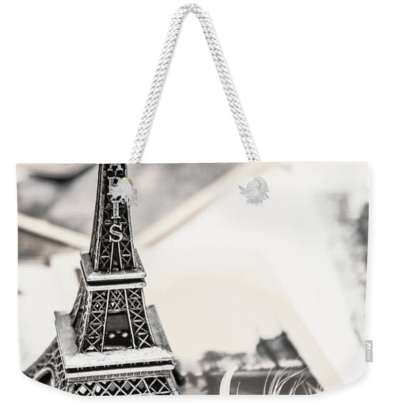 Postcard Weekender Tote Bag featuring the photograph Postcards And Letters From Paris by Jorgo Photography - Wall Art Gallery